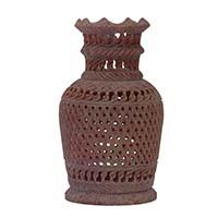 Stone Jali Flower Vase