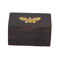 MWA-1431,Butterfly Brass Wood Sheesham Small Box-a