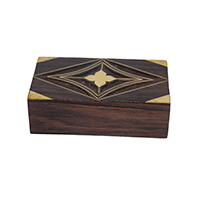 MWA-1443,Sheesham Brass Work Gift Box-a