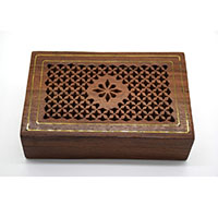 MWA-1444,Jali Work Brass Lines Gift Box-a