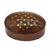 Oval Wood Gift Box-Stars