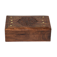 MWA-1452,Sheesham Wood Brass Work Box-a