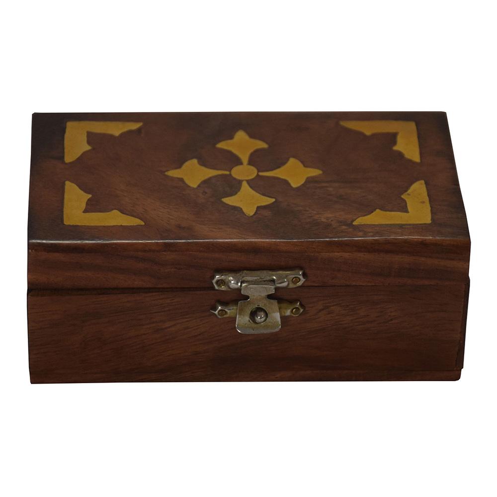 Rose Wood Brass Work Gift Box