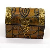 MWA-1456,Wood Carving Brass Small Gift Chest2-a