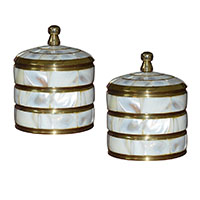 MWA-1459,Shell Brass Box-a