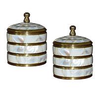 Shell Brass Box-Set of 2