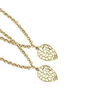 Gold Leaves Anklets-Set of 2