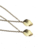 Delicate Chain With Gold Leaves Anklets- Set of 2