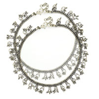 MAtA-2613,Rajasthani Silver Plated Anklet,Nickel Free,Set of 2-a1-a