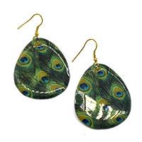 MEA-470,Peacock Earring,Nickel Free-a