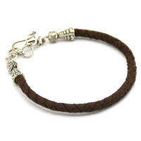 MMcA-2504,Round Dark Brown Men Bracelet-a