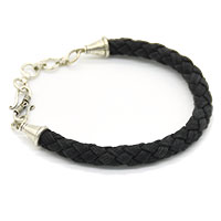 MMcA-2518,Heavy Round Men Bracelet-Black-a
