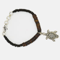 Brown Bone Tortoise Men Bracelet