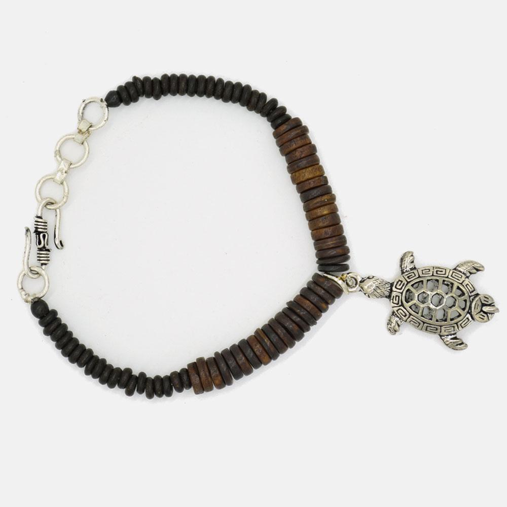 Brown Bone Tortoise Men Bracelet