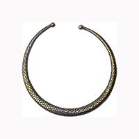MNA-139,Snake Round Pipe Gold Oxidised Hasli,Nickel Free-a