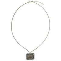 MNA-155,Smokey Stone Sajai Silver Oxidised Long Chain Necklace,Nickel Free-a
