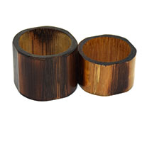 Shades Wooden Napkin Ring-Set of 2