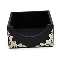 MNpA-1520,Black Leather Napkin Box1-a