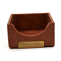 MNpA-1521,Brown Leather Brass-a