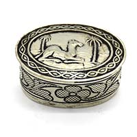 MWA-1478,Forest Camel Silver Oxidised Small Gift Box-a