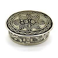 Handmade Art Design Silver Small Box