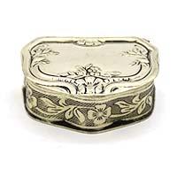 Flower Motifs Silver Gift Box