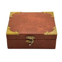 MWA-1494,Brown Leather Gift Box-a