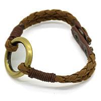 Ring Leather Men Bracelet