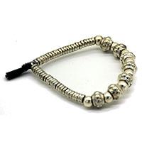 Tambour Beads Black Tassel Men Bracelet