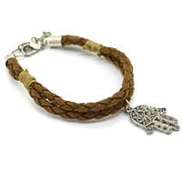 Hamsa Brown Men Bracelet