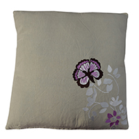 MPiA-2709,Multi Flowers Beige Hand Embroidery Pillow Cover(45x45)-a