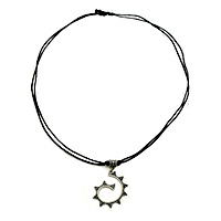 MNA-1105,Geometric Black Dori Necklace-a