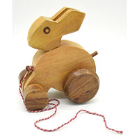 MGA-2820,Wooden Bunny Pull Toy1-a