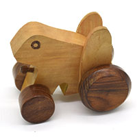 MGA-2823,Wooden Frog Pull Toy2-a