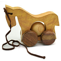 MGA-2825,Wooden Horse Pull Toy1-a
