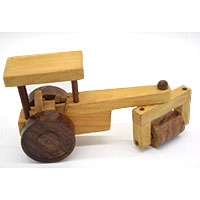 Wooden Toy Road Roller