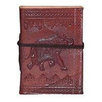 MJA-2905,Handmade Leather Elephant Journal(5 x 3.5)abcd
