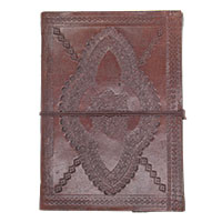 MJA-2906,Handmade Leather with Pressed Flowers Journal(7 x 5) (3)