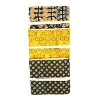 MJA-2907,Handmade Paper Cotton Block Print Journal (5 x 4.5) Set of 3 (4)