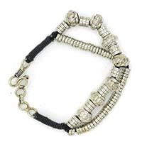 Tambour Beads 2 Rows Men Bracelet