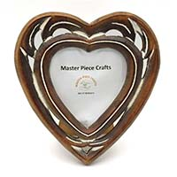 MPfA-2214,Heart Wooden Photo Frame-a