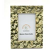 MPfA-2216,Bone Green & White Marble Photo Frame-a