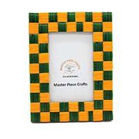 MPfA-2217,Green & Orange Glass Blocks Photo Frame(7x9)-a