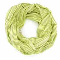Green White Line Scarf