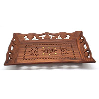 MTA-3002,Jali Brass Dots Tray 1@a