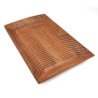 MTA-3004,Sheesham Wood Brass Dots Carved Tray@2a