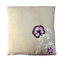 Floral Motifs Embroidered Pillow Cover