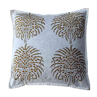 Block Printed Palm Tree Pillow Cover