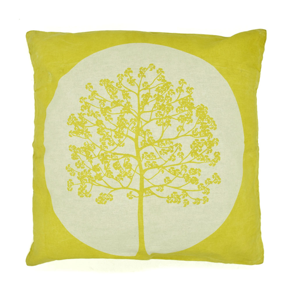 Block Printed Tree of Life Pillow Cover