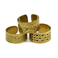 MRA-328,Different Brass Oxidised 3 Pieces Set Finger Ring1-a